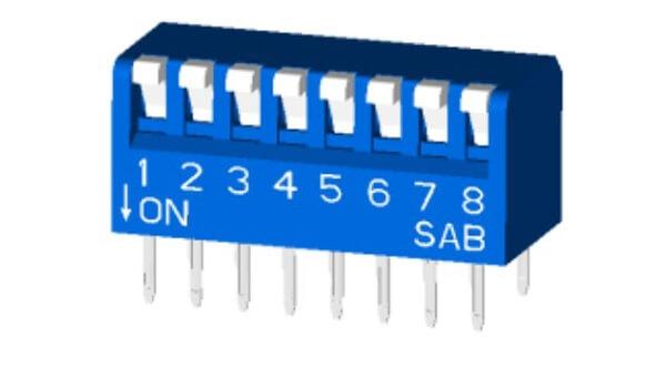 SPST Piano Type DIP Switch