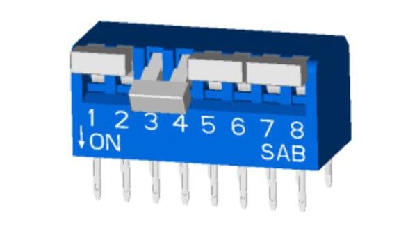 2PST Piano Type DIP Switch