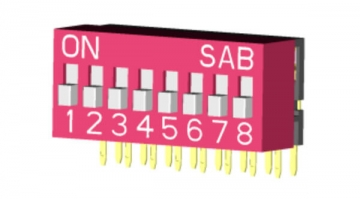 Right Angle DIP Switch: SPST