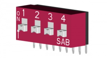 Right Angle DIP Switch: 2PST
