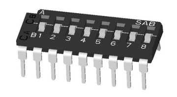 ON-OFF-ON Multi-pole DIP switch (One Common): Thru-hole Lead