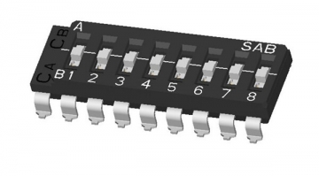 ON-OFF-ON Multi-pole DIP switch (One Common): SMD Lead