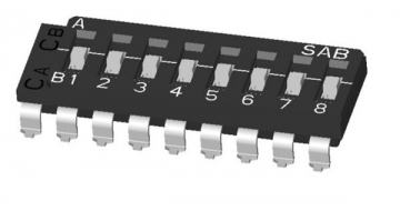 ON-OFF-ON Multi-pole DIP switch (Two Common): SMD Lead