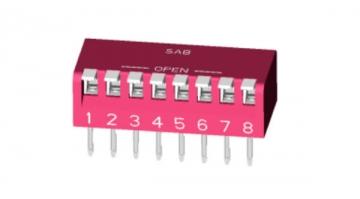 New Miniature Piano Type DIP Switch: Thru-hole Lead